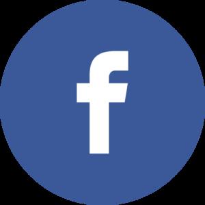 Facebook icon in a circle