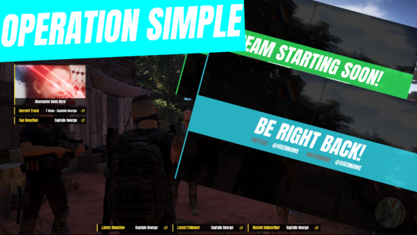 Operation Simple Stream Overlay Template 1