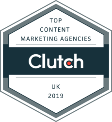 Clutch Top Content Marketing Agencies UK 2019 Badge