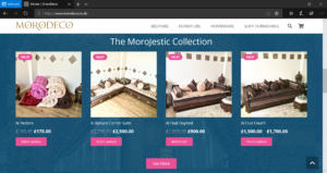 MoroDeco MoroJestic Collection on Website