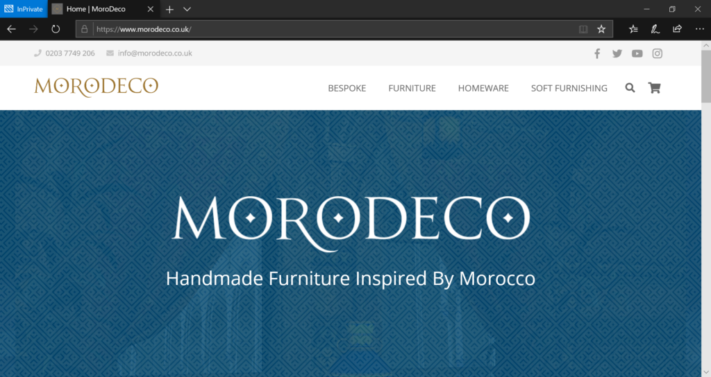 MoroDeco Website Header