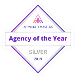 Ad World Masters Agency of the Year SILVER 2019