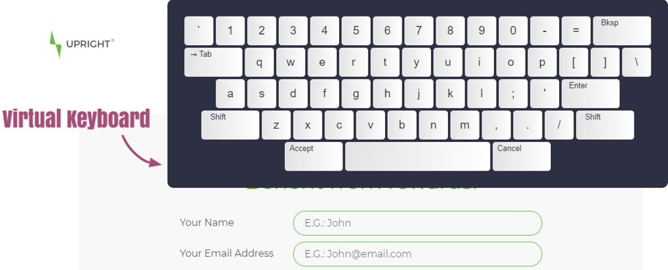 accessiBe virtual keyboard