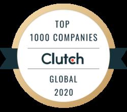 Clutch Top 1000 Companies 2020