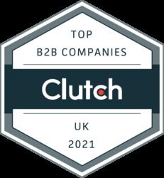 Clutch Top B2B Companies UK 2021 award